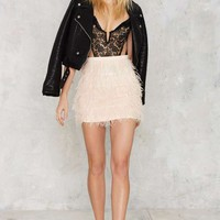 Birds of a Feather Mini Skirt - Pink