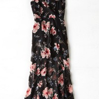 AEO Women's Floral Maxi Dress (Black)
