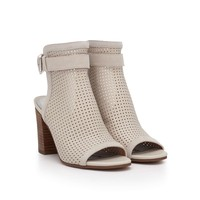 Emmie Perforated Leather Heel