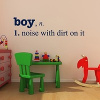 Boy with Dirt definition vinyl decal LARGE by OffTheWallExpression