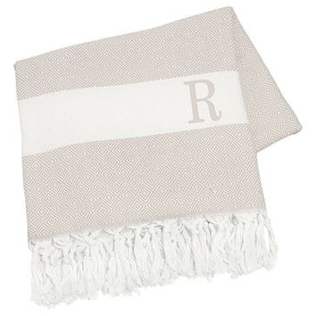 Cathy's Concepts Personalized Turkish Cotton Throw - Beige