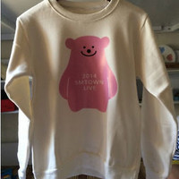 2014 SMTOWN Concert Hoodie EXO SJ/Super Junior TVXQ SNSD Pink Bear Sweater