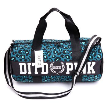 Victoria pink sports fitness yoga package hold-all duffel bag Blue leopard