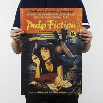 Classic Movie Posters Pulp Fiction Kraft Paper Poster Bar Cafe Decoration Painting Wall sticker