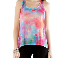 Watercolor Tank - Rainbow