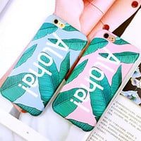 Fashion Leaves mobile phone case for iphone  6 6s 6plus 6s plus + Nice gift   box!