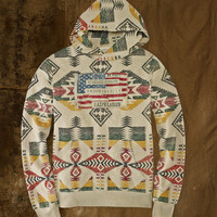PATTERNED FLEECE HOODIE