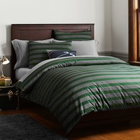 Brooklyn Stripe Duvet Cover + Sham, Green