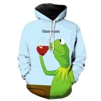 Kermit The Frog Drinking Tea #Thatsnoneofmybusiness Hoodie
