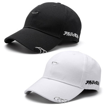 2016 unisex solid Ring Safety Pin curved hats baseball cap men women snapback caps sport casquette gorras DM#6