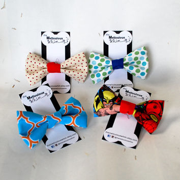 SALE Dog Bow Tie - Dog Bowties - Dog Collar Bow Tie - Boy Dog Accessories - Velcro Dog Collar Accessories - Cat Bow Ties - LAST CHANCE