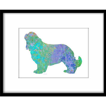 Spaniel Printable Poster, Colourful Dog Splatter Art, Blue Lilac Spaniel, Dog Owners Wall Art
