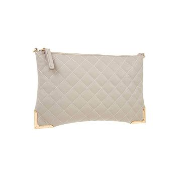 Women's Affordable Fashion Handbags Faux leather quilted detailed clutch bag