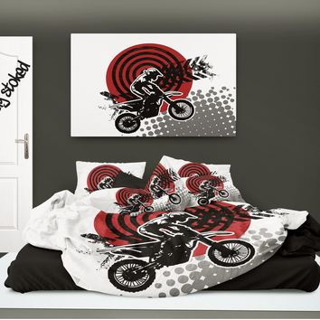 "Motocross Comforter ""MX Rider"" from Extremely Stoked Motocross Bedding collection"