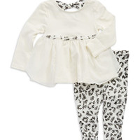 Nicole Miller Baby Girls Two-Piece Patterned Set