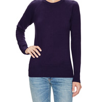 French Connection Women's Babysoft Solid Sweater - Purple -