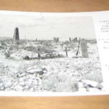 Vintage Portion Of Famous Boothill Cemetery Tombstone Arizona Postcard