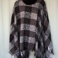 Knit Turtle Neck Poncho