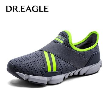 DR.EAGLE Male shoes adult sports running shoes men's air mesh men's summer sneakers free flexible light GYM men shoes sport