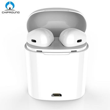 I7S TWS Earbuds Ture Wireless Bluetooth Double Earphones Twins Earpieces Stereo Music Headset For Apple iPhone X 8 8 Plus Huawei