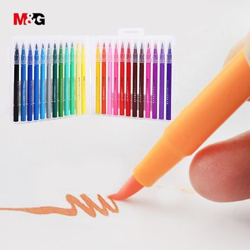 M&G Watercolor brush manga markers set for school drawing colored marker pens for sketch art design suppies liners gift for kid
