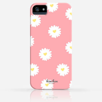 Daisy Pattern Summer iPhone 4 Case, iPhone 4s Case, iPhone 5 Case, iPhone 5s Case, iPhone Hard Plastic Case