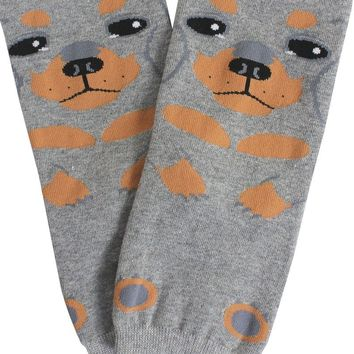 Ladies dog print socks