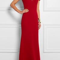 Victoria Beckham - Cutout silk and wool-blend crepe gown