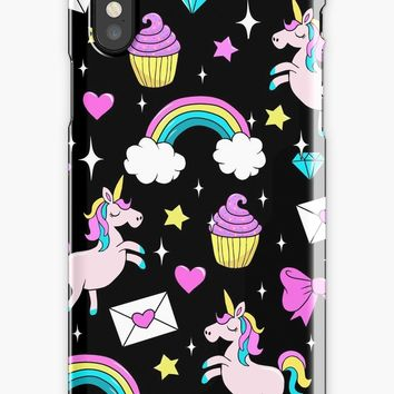 'Cute Unicorn Pattern' iPhone Case/Skin by ValentinaHramov
