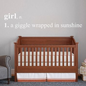 Girl Definition Wall Decal (72 x 14)