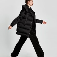 DOWN HIGH NECK PUFFER COAT