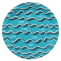 Fish in the Water on Paper Plates