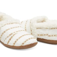WHITE GOLD BOUCLE WOMEN'S SLIPPERS