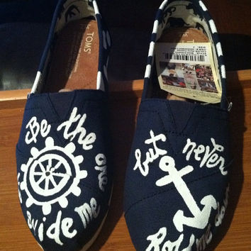 Custom Handpainted Hope anchors the soul Toms ANCHOR NAUTICAL MARINE soul toms