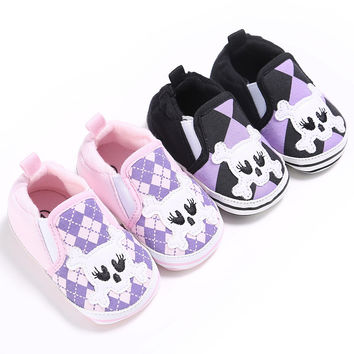 Baby Boys Girls Loafers Shoes Infant Toddler Kids Crib Babe Cute Skull Casual Fashion New Brand Footwear