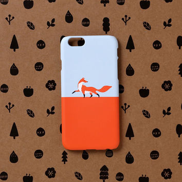 iPhone 6 case, iPhone 6s case - Fox walk - iPhone 6 case, iPhone 6 Plus case, iPhone 5s case, Good Luck Gold Sticker non-glossy C08
