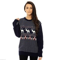 Gemma Small Reindeer Sweater in Navy from 21 Westmoreland
