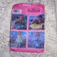 Disney Princess Costumes from SimplicityToddlers Collection Sewing Pattern #5402