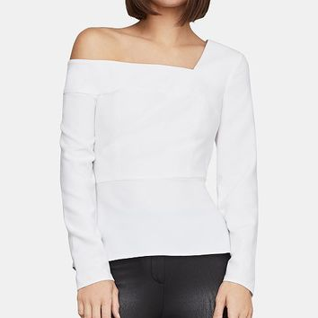 BCBGMAXAZRIA One-Shoulder Peplum Top Women - BCBGMAXAZRIA - Macy's
