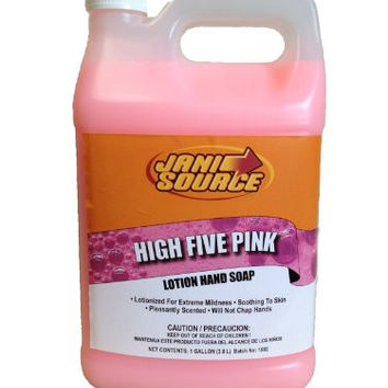 JaniSource 10112716 High Five Pink Lotion Hand Soap, 1 Gallon (Pack of 4)