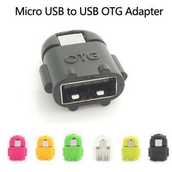 ICIK272 Hot sell Android Robot Shaped Micro USB to USB OTG Adapter Cable for Smart Phone Galaxy S3 S4 Note2