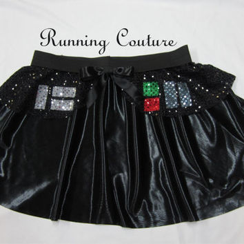 Darth Vader Star wars inspired Sparkle Running Misses circle skirt Princess Leia