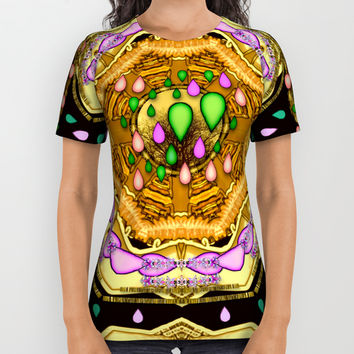 Raining love peace over the creation of life All Over Print Shirt by Pepita Selles