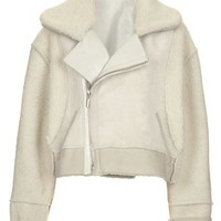 Topshop Unique Genuine Shearling Bomber Jacket | Nordstrom