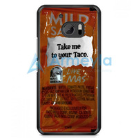 Taco Bell Take Me To Your Taco HTC One M10 Case | armeyla.com