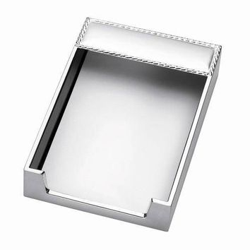Free Engraved Personalized Silver or Goldtone Desk Note Memo Pad