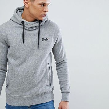Superdry Hoodie In Grey Marl at asos.com