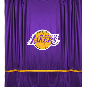 Sidelines Shower Curtain Lakers