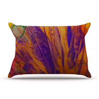"Malia Shields ""Together"" Purple Orange Pillow Sham"