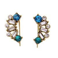 Streetstyle  Casual Square Crystal Stud Earring